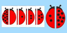 Ladybird Spot Number Bonds to 10 Matching Activity