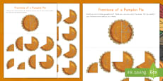 * NEW * Fractions of a Pumpkin Pie Puzzle Activity