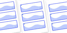 Sapphire Blue Themed Editable Drawer-Peg-Name Labels (Colourful)