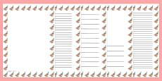 Robin Portrait Page Borders