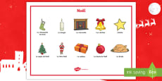 * NEW * Christmas French Word Mat