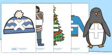 Maths Symbols on Winter Images