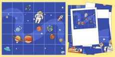 Space Themed Bee-Bot Mat