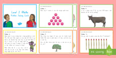 * NEW * Level 2-3 Maths Problem Solving Challenge Cards