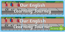 * NEW * Our English Learning Journey Display Banner