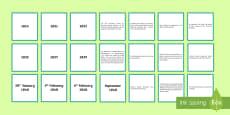 * NEW * Signing of the Treaty of Waitangi Timeline Matching Cards