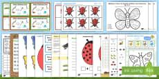 Minibeast Maths Activity Pack