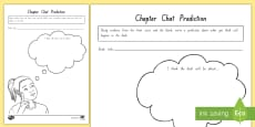 * NEW * Term 1 Week 1 Year 5 and 6 Chapter Chat Prediction Activity Sheet to Support Teaching On There's a Boy in the Girls' Bathroom by Louis Sachar