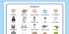 Judaism Word Mat