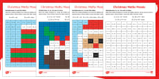 Christmas Multiplication Mosaic Activity Sheets