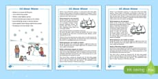 Winter Differentiated Reading Comprehension Activity