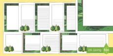 Forest Page Borders (A4)