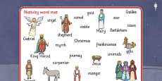 Nativity Word Mat