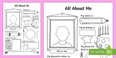 All About Me Activity Sheet