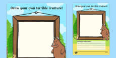 Draw Your Own Terrible Creature Gruffalo