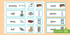 Year 1 Everyday Materials Scientific Vocabulary Cards