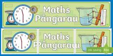 * NEW * Maths Display Banner