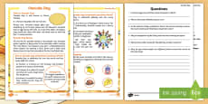 KS1 Pancake Day Differentiated Reading Comprehension Activity