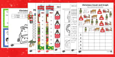 Top Ten KS1 Christmas Maths Activity Sheet Pack