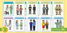 * NEW * Tarjetas educativas: Los que ayudan