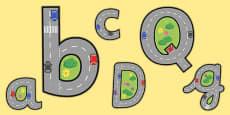 Display Lettering & Symbols (Roads)