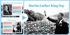 Martin Luther King Day KS1 Assembly Presentation