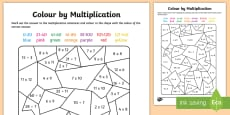 * NEW * Colour by Multiplication and Division to 12 x 12 Activity Sheet