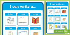 * NEW * I Can Write A... Display Poster
