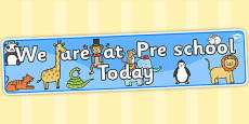 Self-Registration Banner Animals Pre School