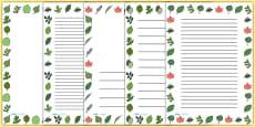 Leaf Page Borders