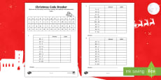 KS1 Christmas Codebreaker Activity Sheet