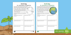 * NEW * Earth Day: Astronaut's Perspective Activity Sheet