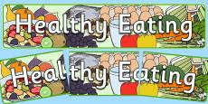 Healthy Eating Display Banner