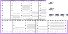 Incy Wincy Spider Page Borders