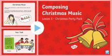 KS1 Composing Christmas Music PowerPoint