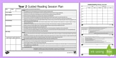 Year 2 Australian Curriculum Guided Reading Session Planning Template
