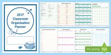 2017 Classroom Organisation Planner