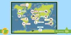 * NEW * Póster: Animales típicos de cada continente