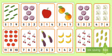 * NEW * Food Counting Peg Cards Activity