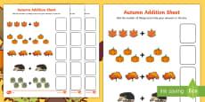 Autumn Addition Sheet