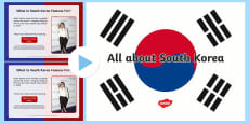 All about South Korea Information PowerPoint