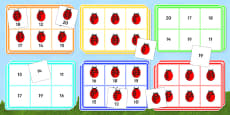 Ladybird Bingo (10-20) - Minibeasts
