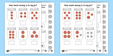 How Much Money Is in My Jar - British Money Differentiated Activity Sheets