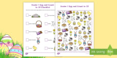 * NEW * Easter I Spy and Count Activity to 10