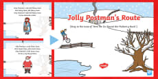 Jolly Postman's Route Song PowerPoint to Support Teaching on The Jolly Christmas Postman