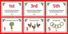 Twelve Days of Christmas Visual Aids