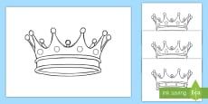 * NEW * Kronen Ausmalbilder
