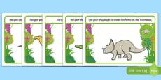 Dinosaurs Playdough Mats