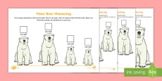 Polar Bear Measuring in Centimetres Differentiated Activity Sheet