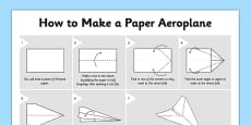 How to Make a Paper Aeroplane Craft Instructions
